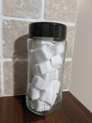 La recette n°4 du verre recettes : les pastilles effervescentes pour WC