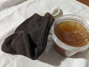 Gommage nourrissant à l'huile d'argan et au sucre